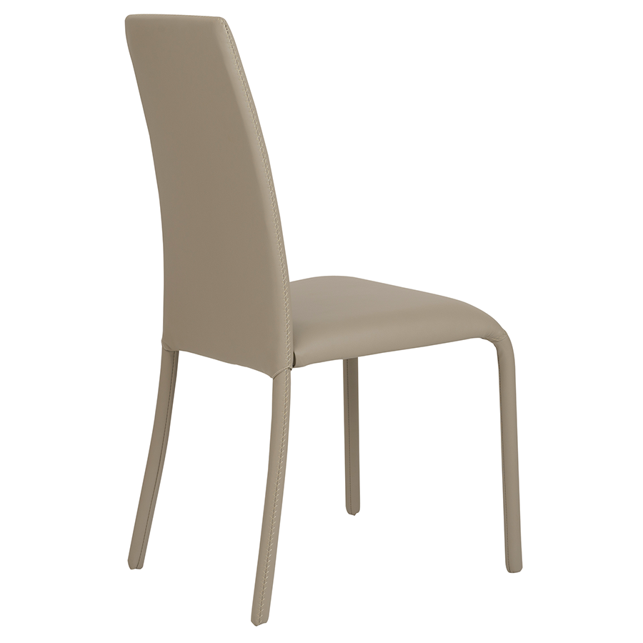 Camille Taupe Leatherette Contemporary Dining Chair