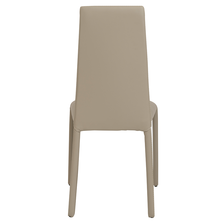 Camille Taupe Fully Upholstered Modern Dining Chair