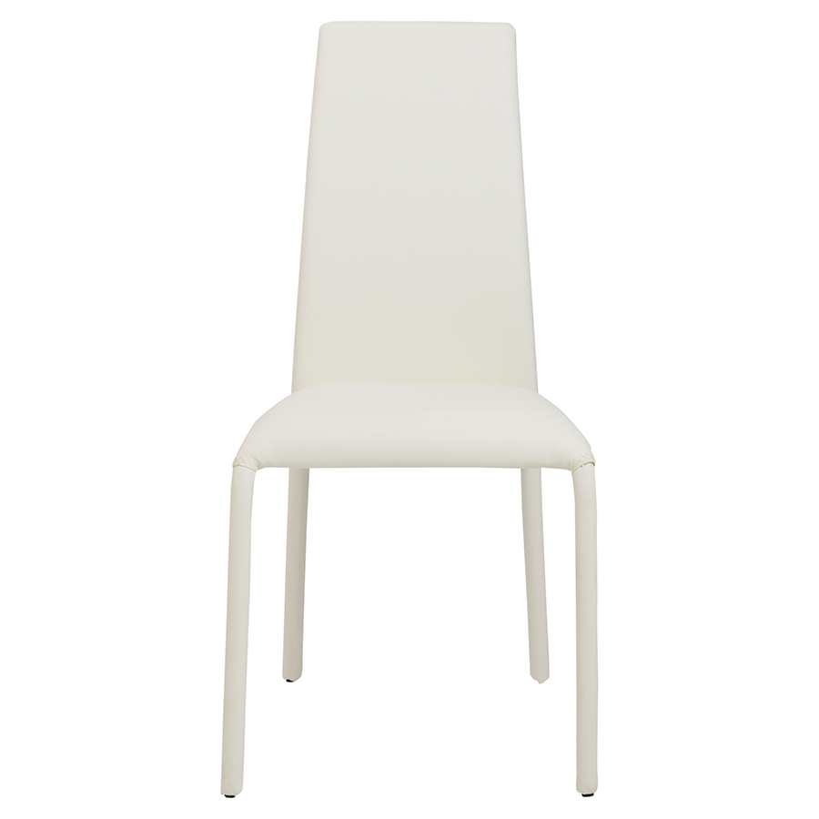 Camille White Contemporary Dining Chair
