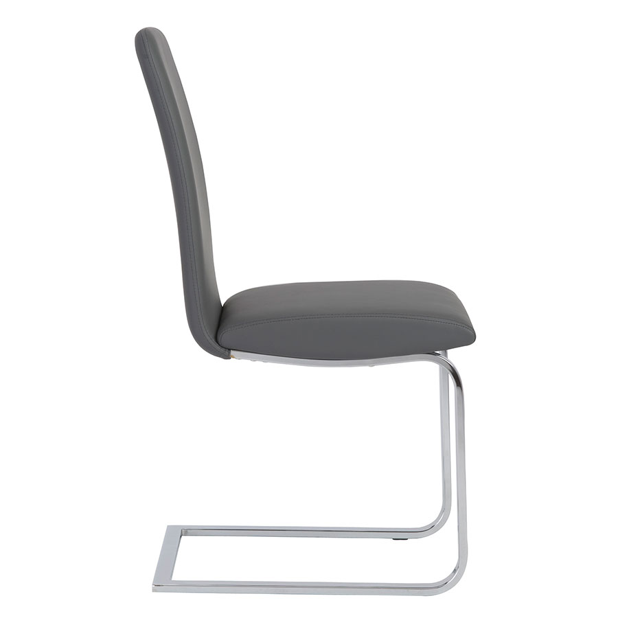Candide Gray Modern Side Chair