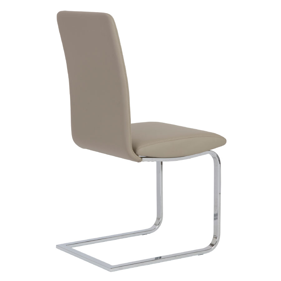 Candide Taupe Contemporary Side Chair