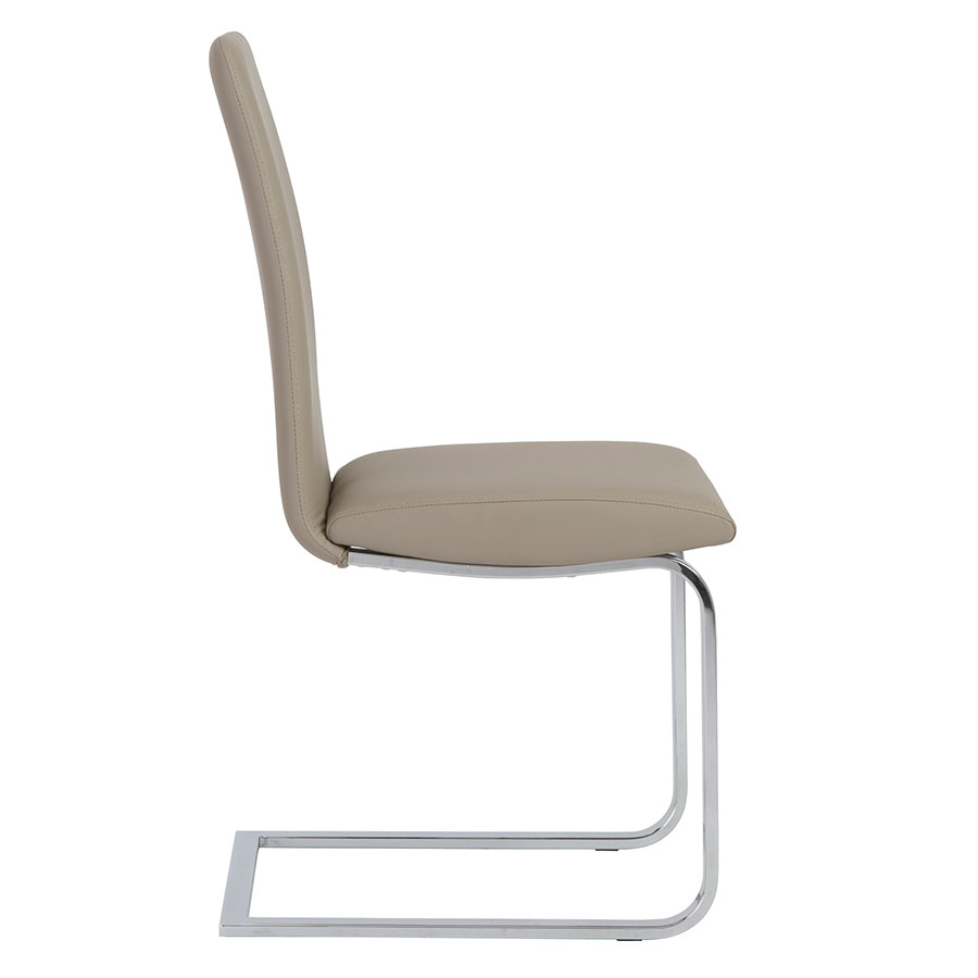 Candide Taupe Contemporary Dining Side Chair