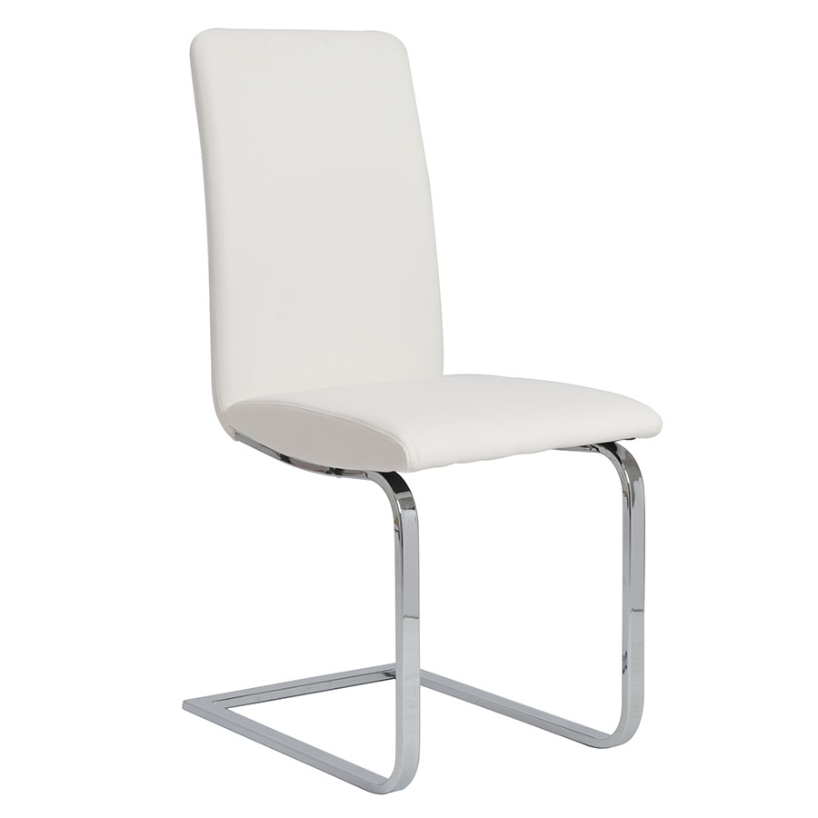 Candide White Modern Dining Side Chair