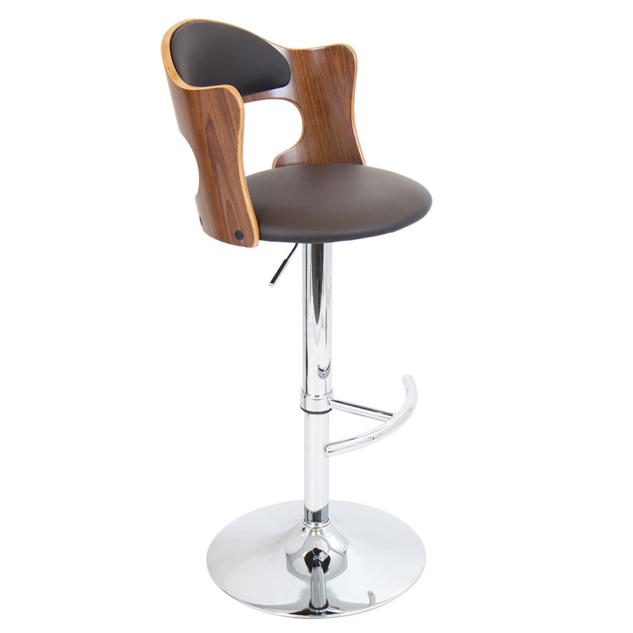 Canute Adjustable Modern Bar Stool