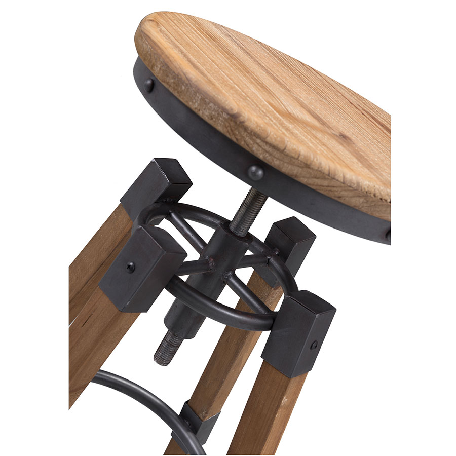 Capital Modern Industrial Adjustable Bar Stool - Detail