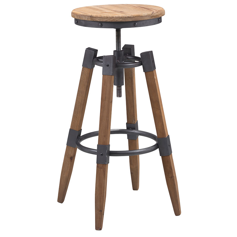 Capital Modern Industrial Adjustable Bar Stool