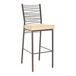 Carly Modern Counter Stool - Sienna Metal Finish
