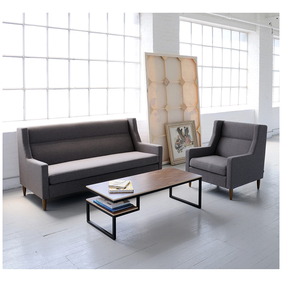 Carmichael Contemporary Loft Sofa in Totem Storm - Lifestyle