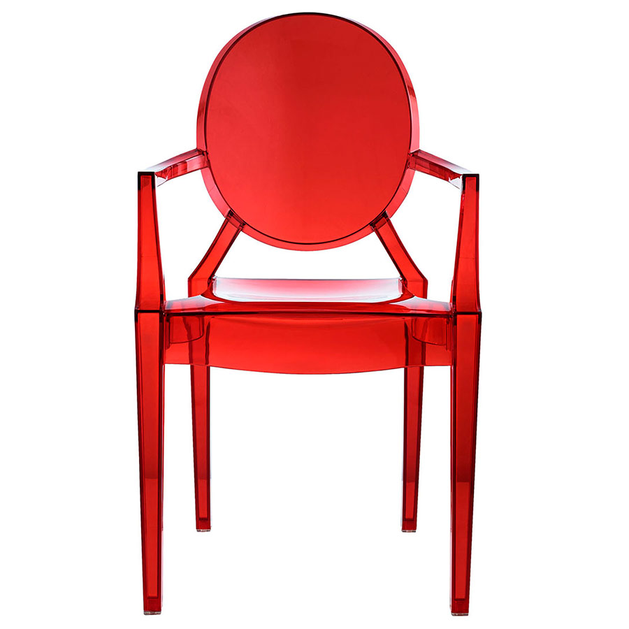 Caroline Classic Arm Chair in Red