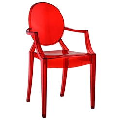 Caroline Arm Chair in Red