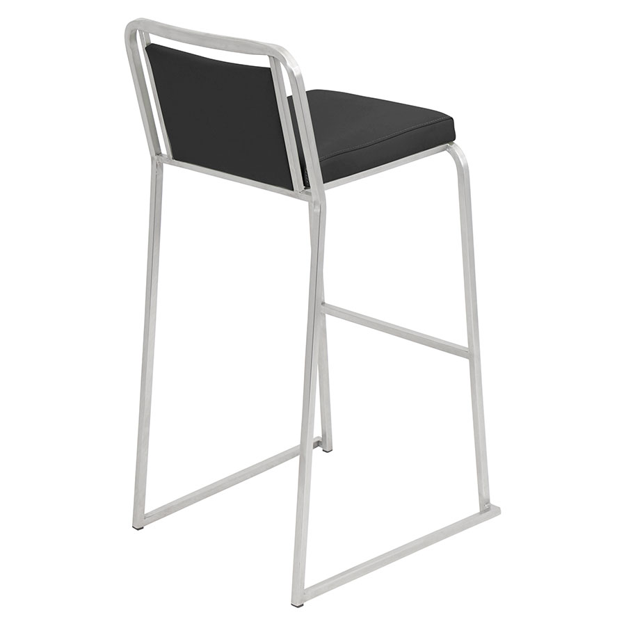 Carrie Black + Steel Contemporary Bar Stool
