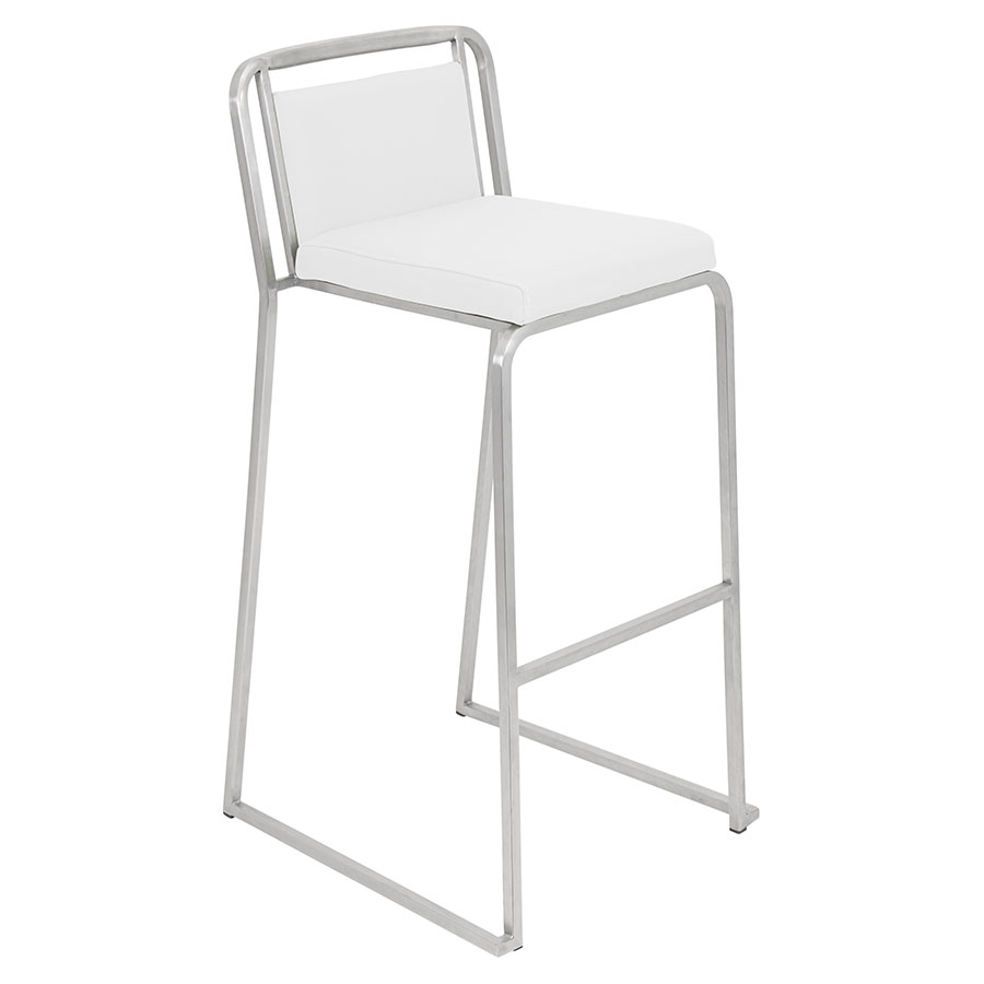 Carrie White Modern Bar Stool
