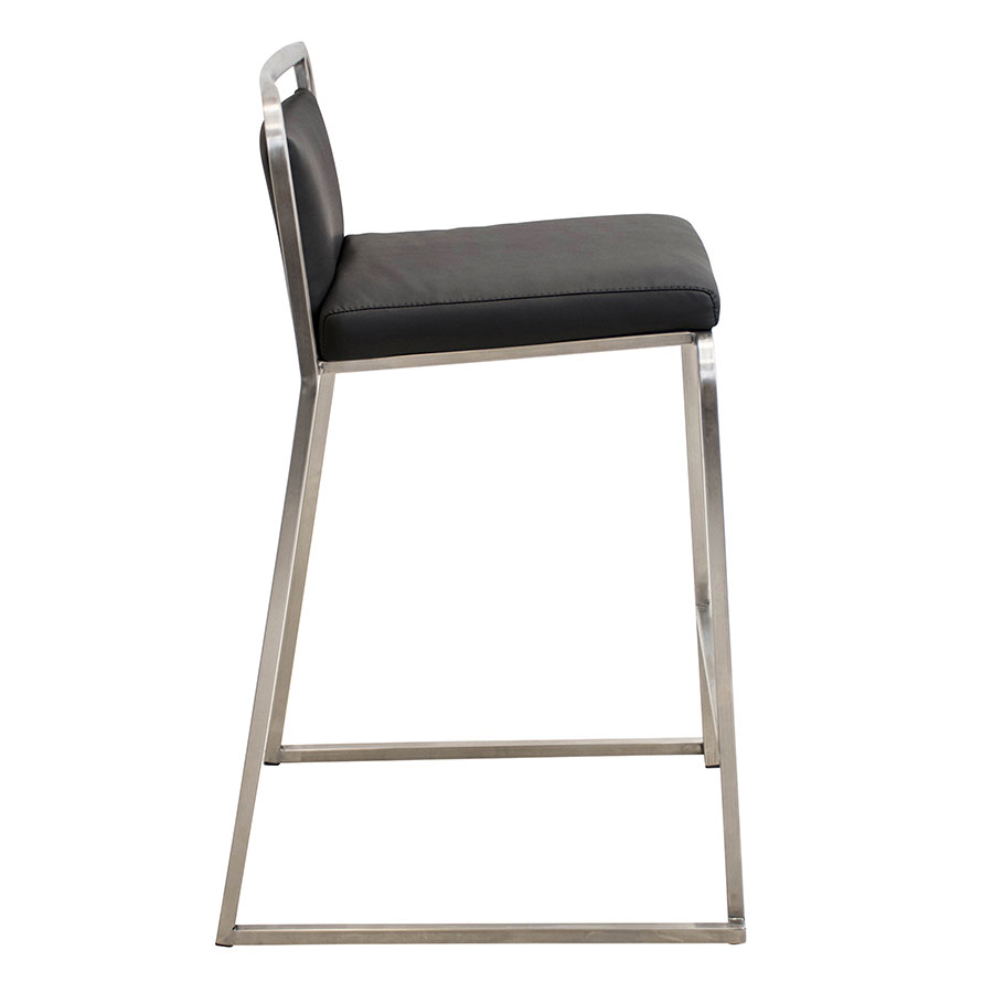 Carrie Black + Steel Contemporary Counter Stool
