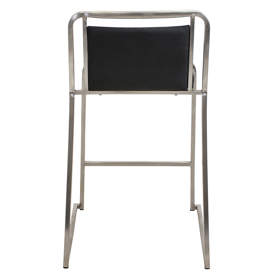Carrie Black + Steel Stacking Contemporary Counter Stool