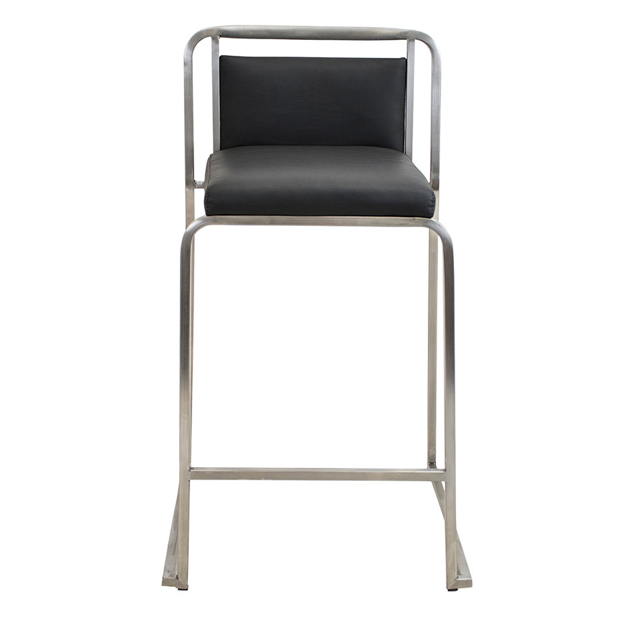Carrie Black + Steel Modern Counter Stool