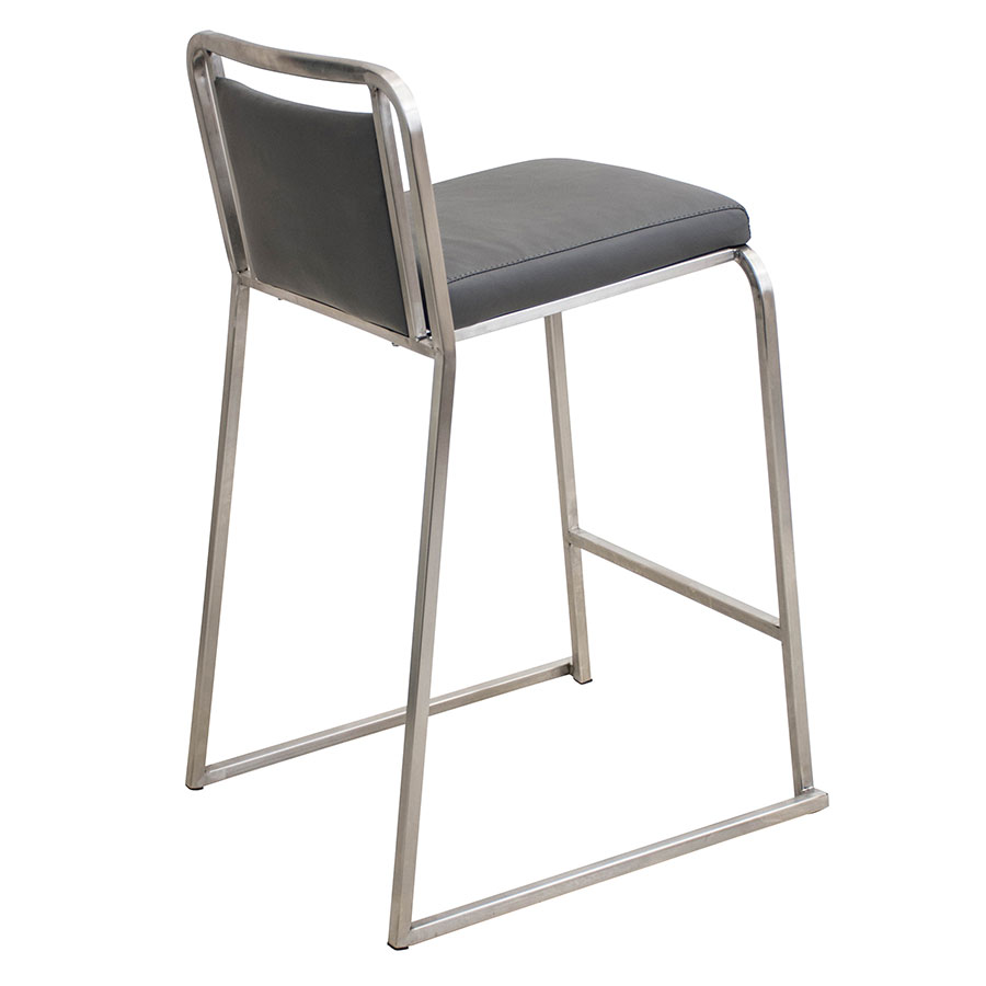 Carrie Gray + Steel Stacking Modern Counter Stool