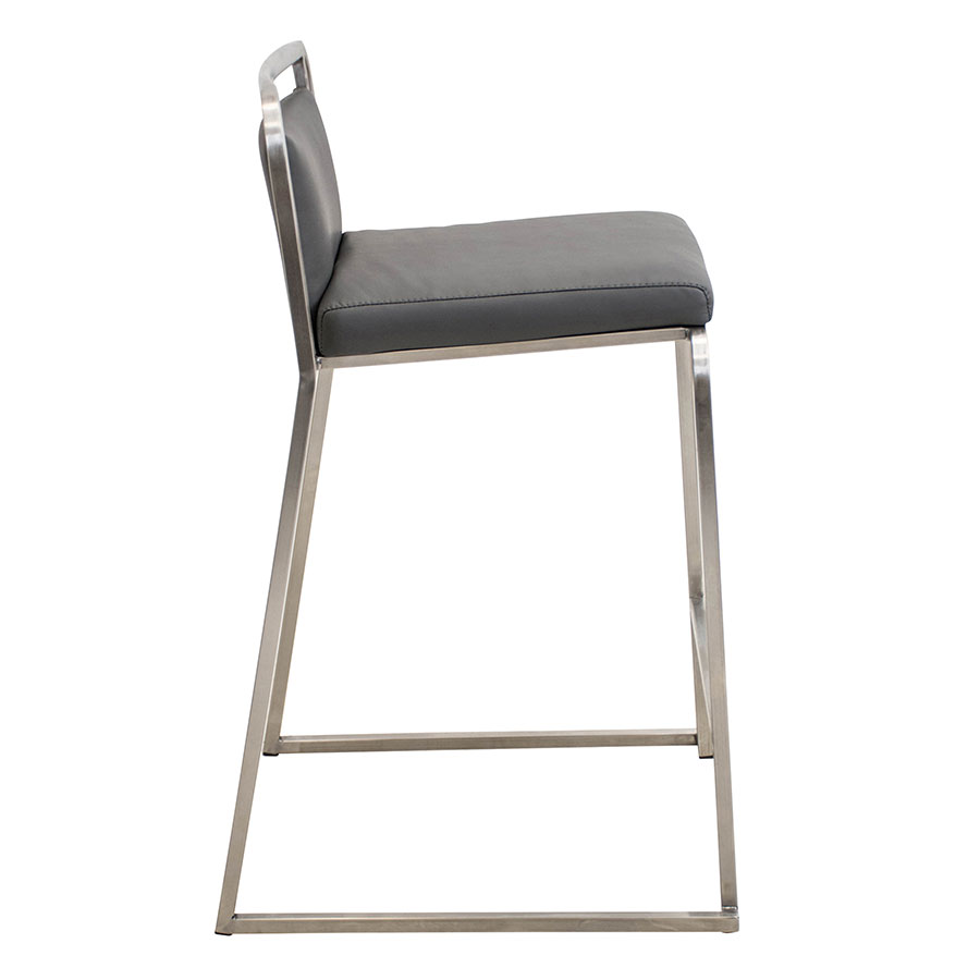 Carrie Gray + Steel Modern Counter Stool