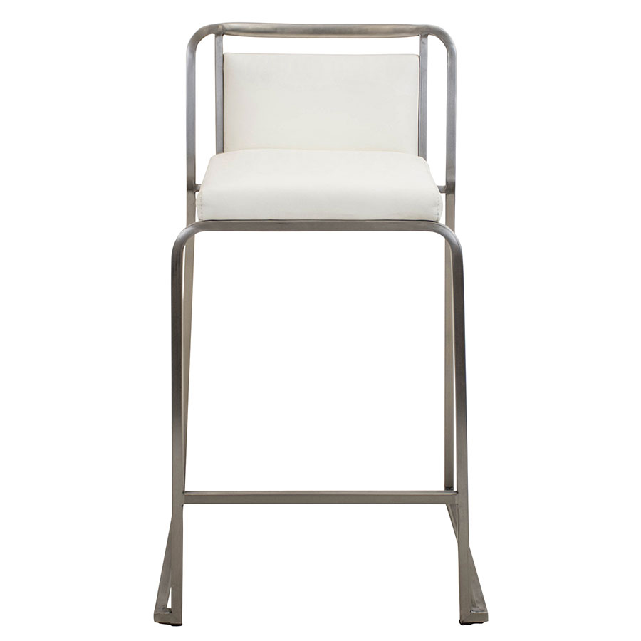 Carrie White Contemporary Counter Stool