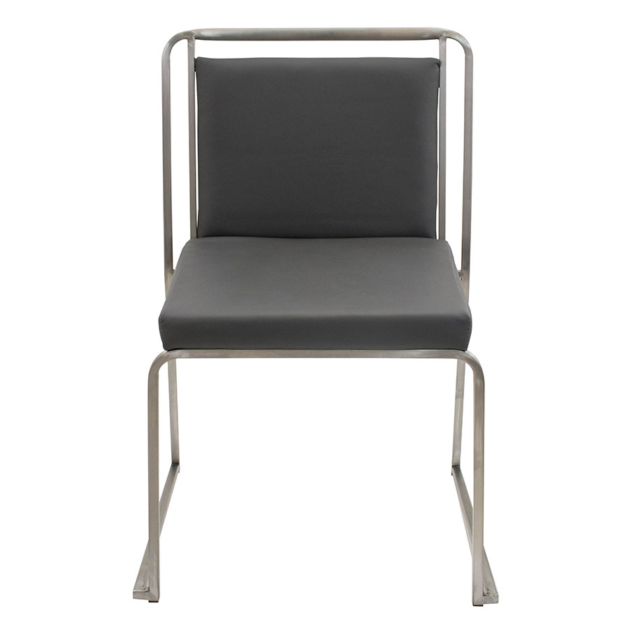 Carrie Gray + Steel Modern Side Chair