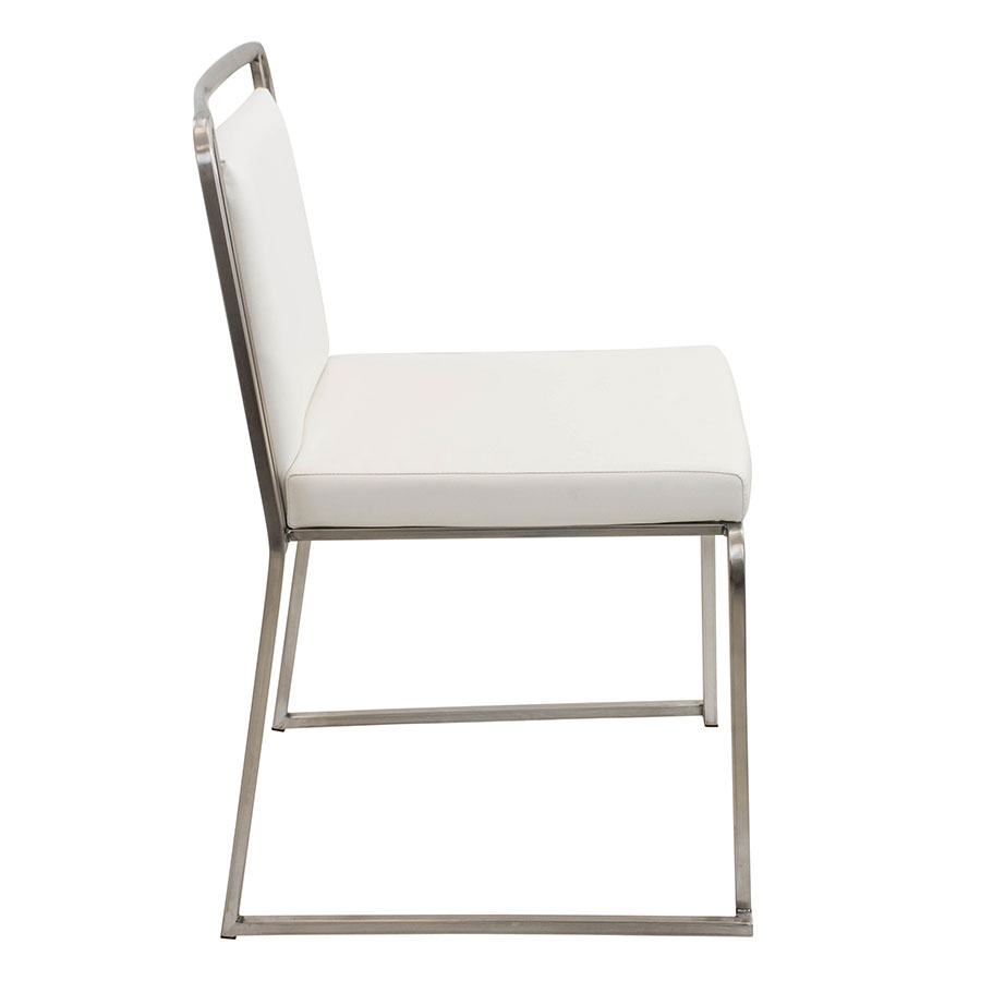 Carrie White + Steel Contemporary Side Chair