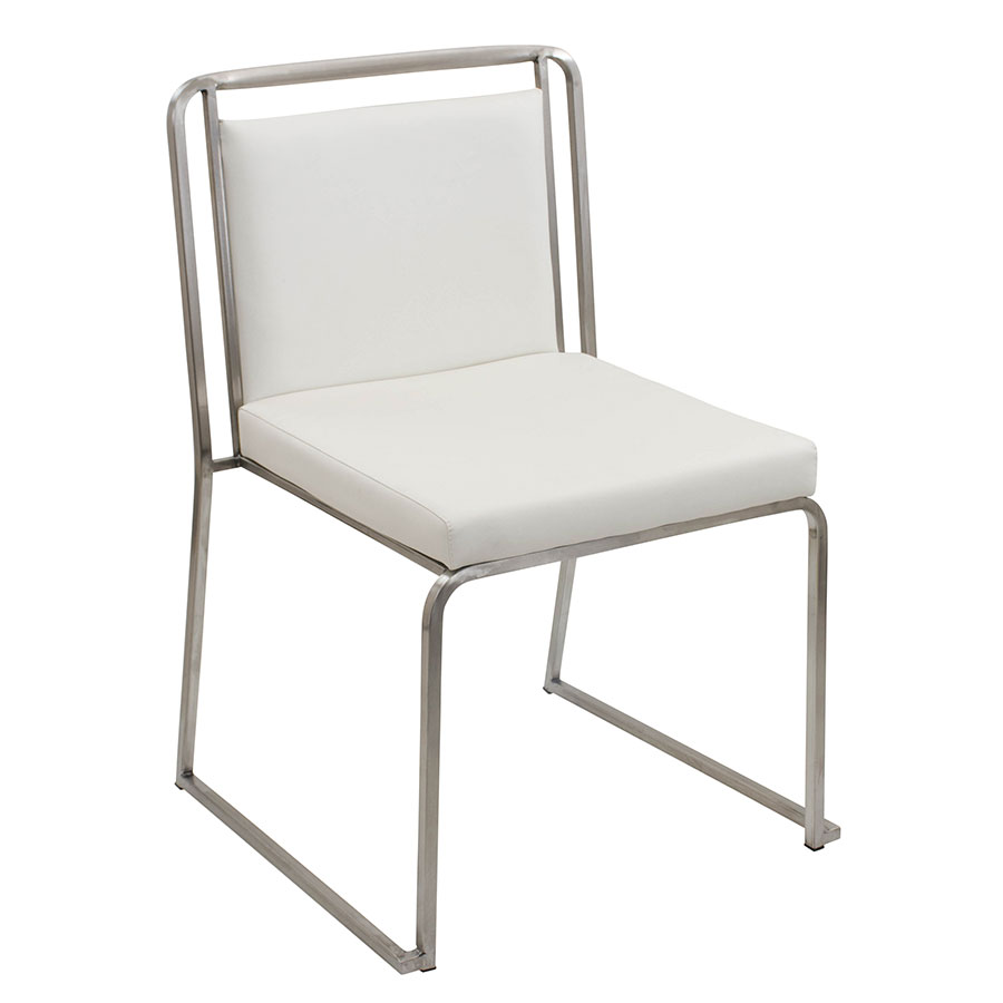 Carrie White Modern Side Chair