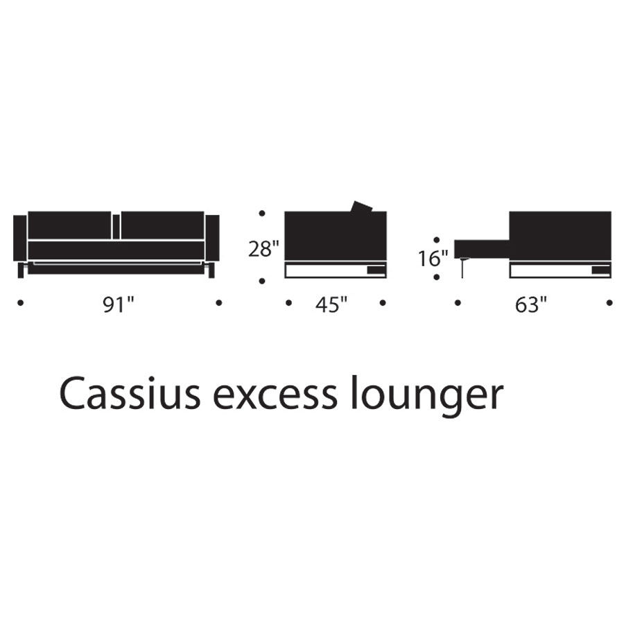 Cassius Deluxe Excess Lounger Dimensions
