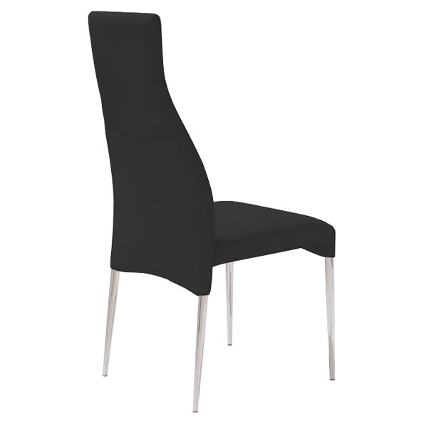 Cato Contemporary Black Dining Chair Back