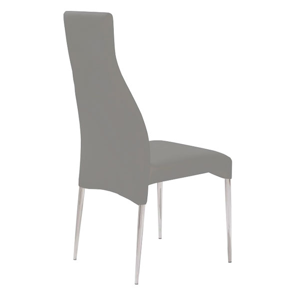 Cato Contemporary Taupe Dining Chair Back