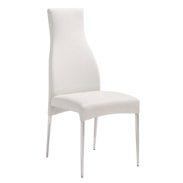 Cato Contemporary White Dining Chair