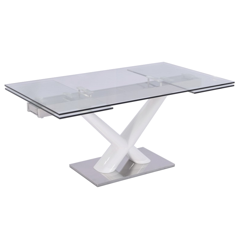 Celeste White Contemporary Dining Table