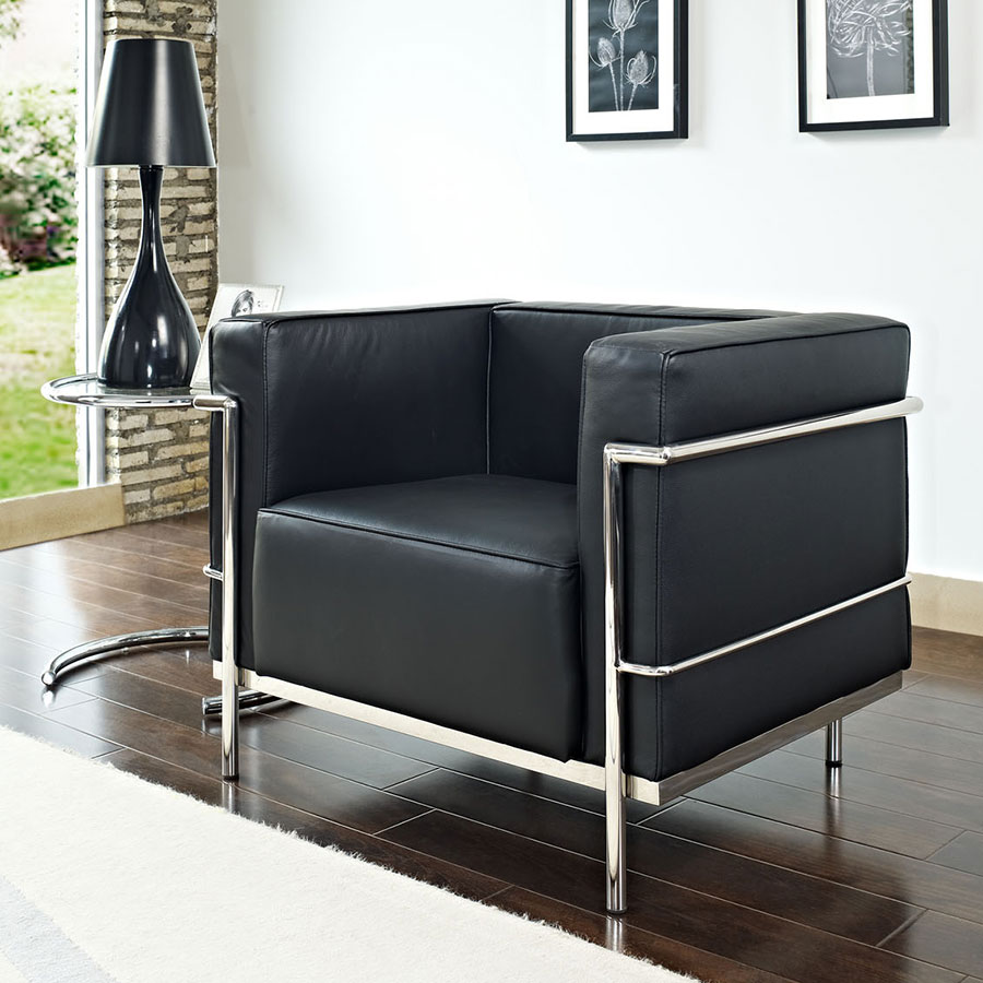 Chambord Black Classic Modern Lounge Chair
