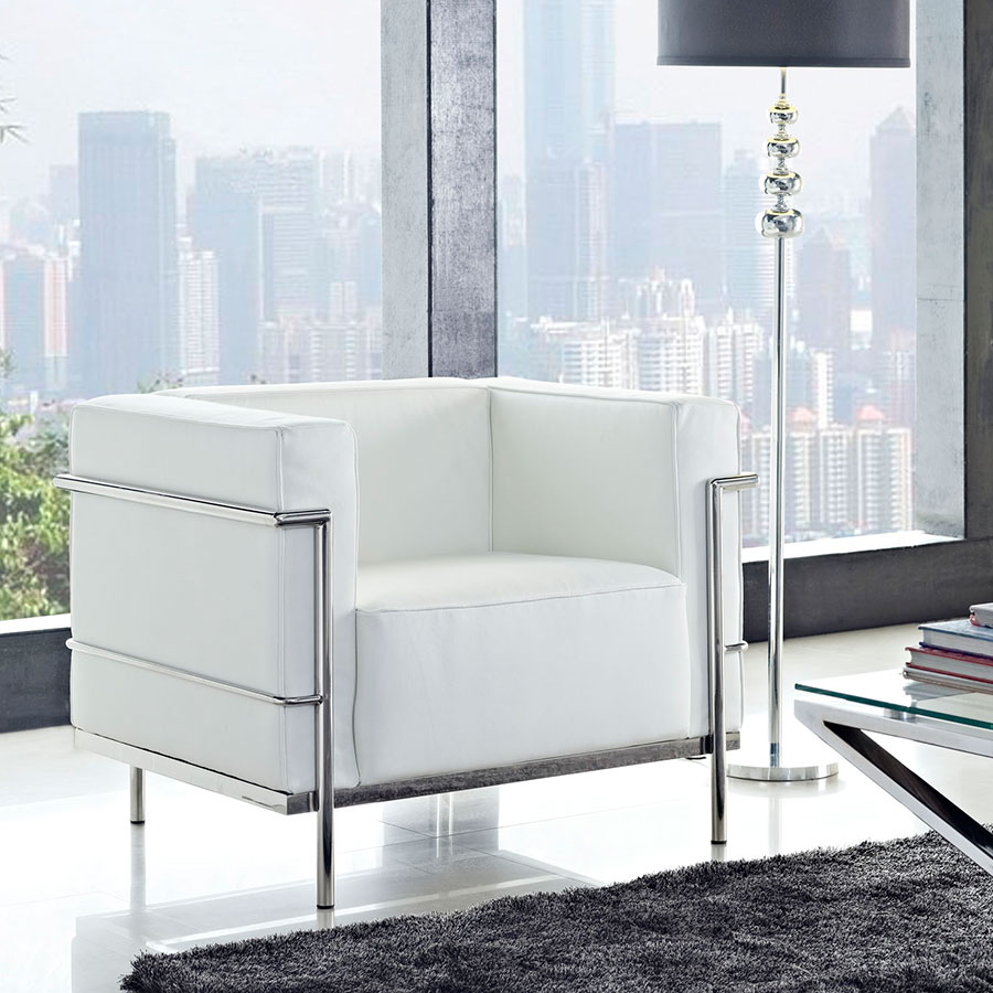 Chambord White Classic Modern Lounge Chair