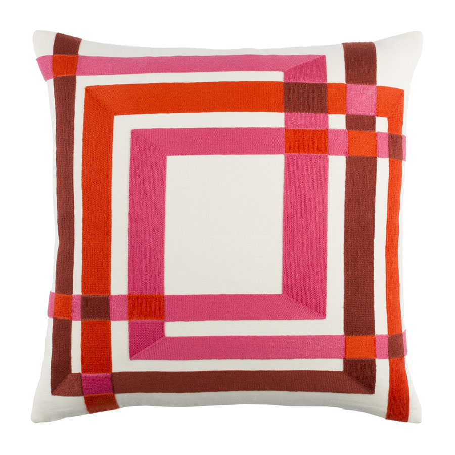 "Chandler 20"" Red Modern Pillow"