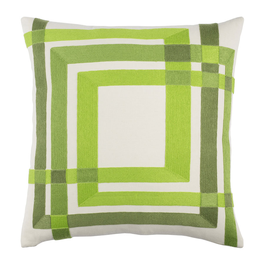 "Chandler 22"" Green Modern Pillow"