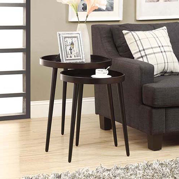 Chelsea Modern Nesting Tables in Cappuccino