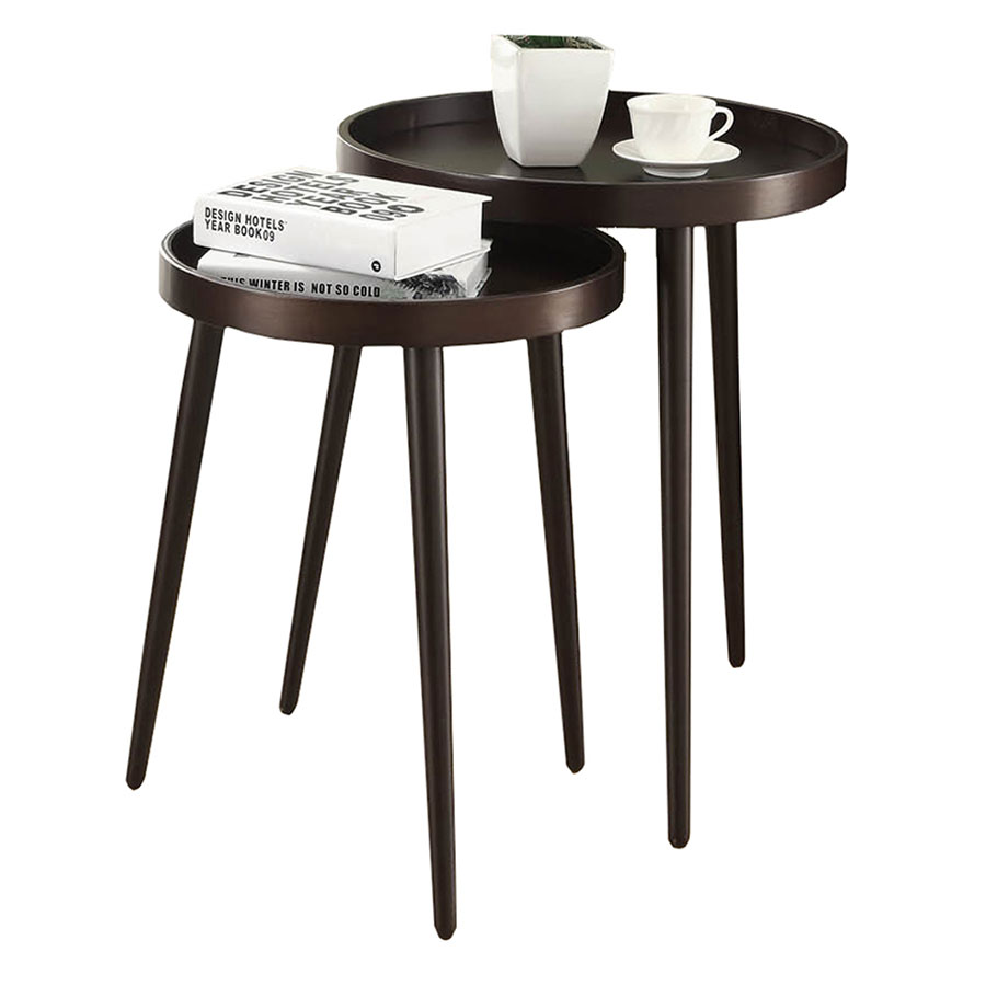 Chelsea Cappuccino Contemporary Nesting Tables