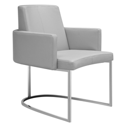 Chichi Taupe Modern Dining Armchair