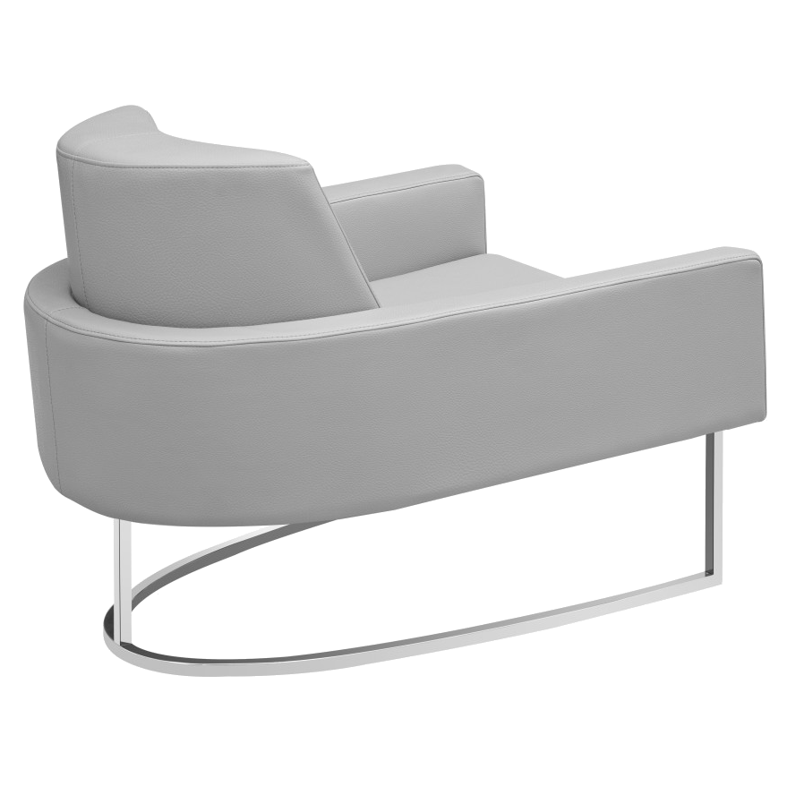 Modern chairs chichi taupe lounge chair eurway - Grijze lounge taupe ...