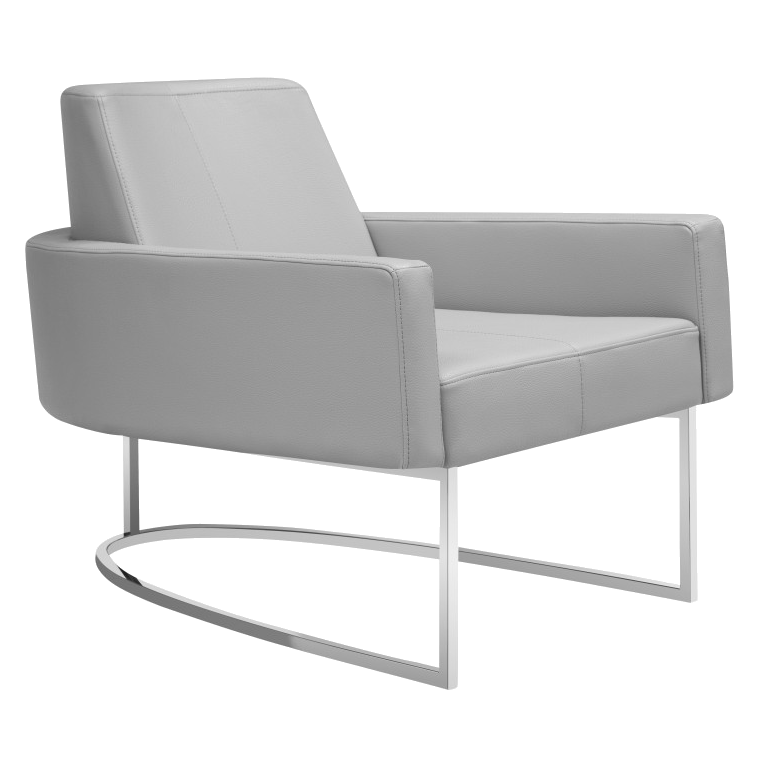 Chichi Taupe Modern Lounge Chair