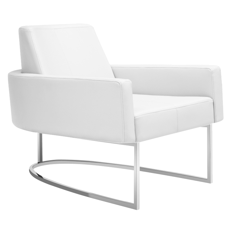 Chichi White Modern Lounge Chair