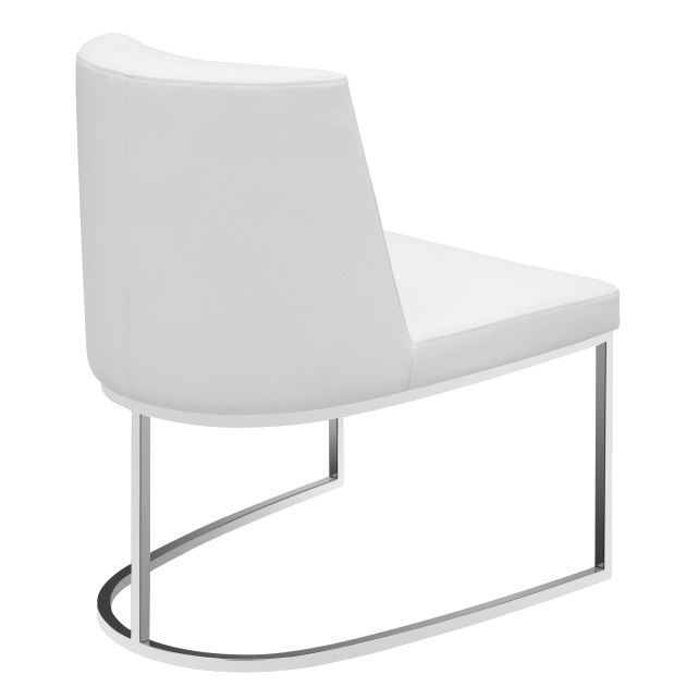 Chichi White Leatherette + Metal Modern Dining Side Chair