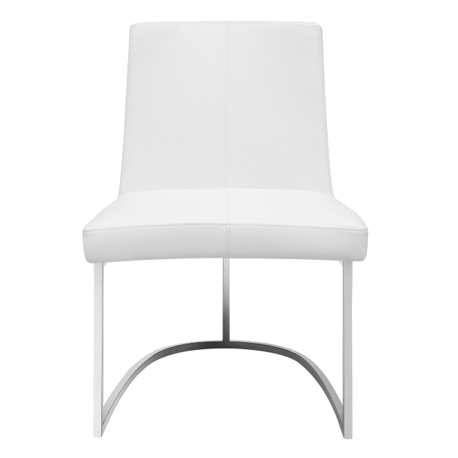 Chichi White Contemporary Dining Side Chair