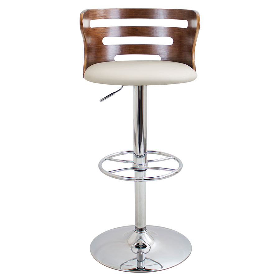 Christopher Cream Adjustable Contemporary Stool