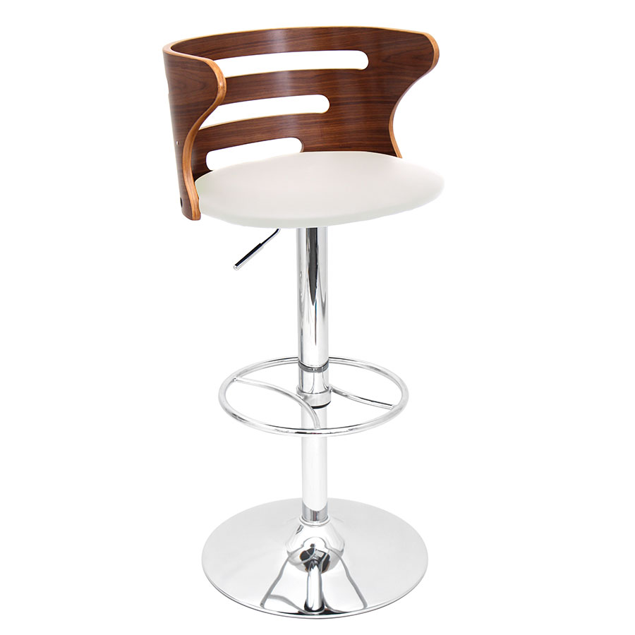 Christopher Cream Adjustable Modern Stool