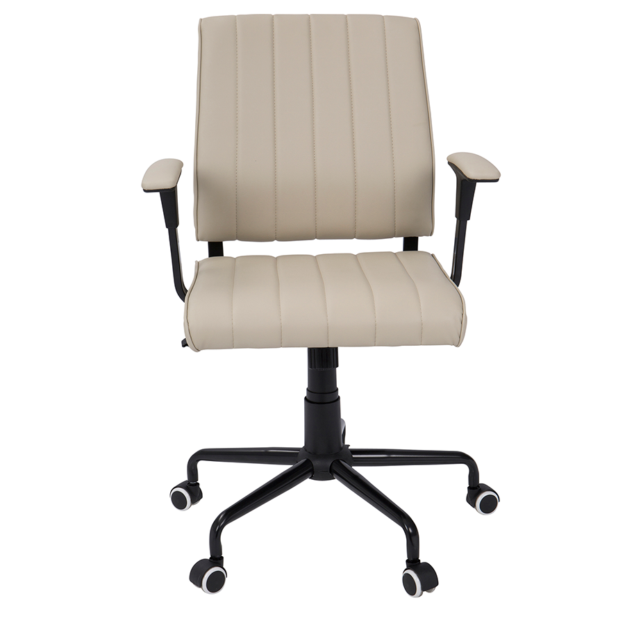 Cindra Black + Beige Contemporary Office Chair