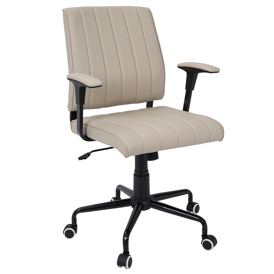 Cindra Black + Beige Modern Office Chair