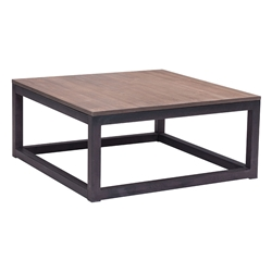 Clarice Modern Industrial Square Coffee Table