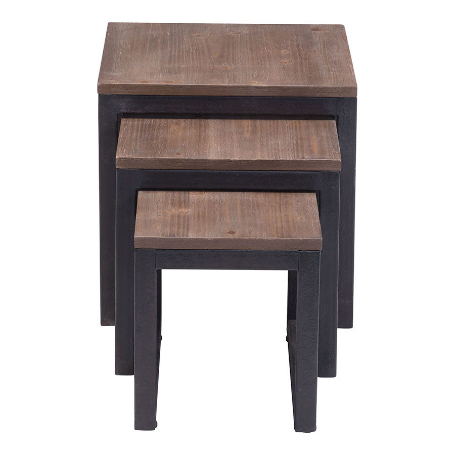 Clarice Modern Industrial Nesting Tables