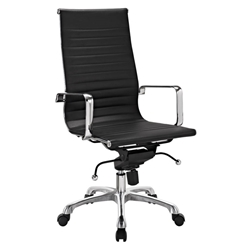 Classic Modern High Back Office Chair in Black