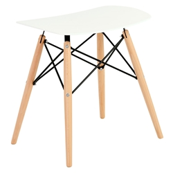Clifford Modern White Dining Stool